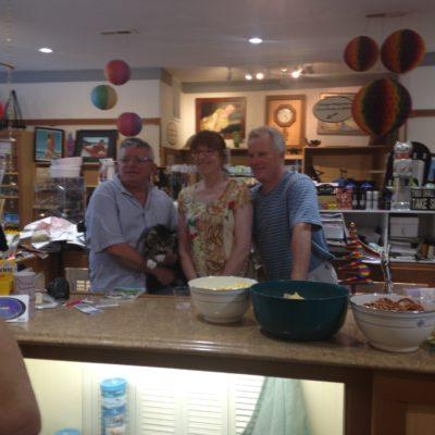 Jocques LeClair, Nancy Sakaduski, and Mick Williams at Fun With Dick And Jame book launch