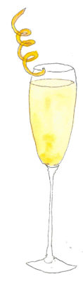 French 75 cocktail happy hour