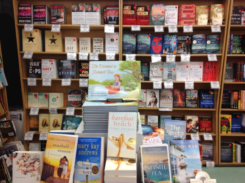 books displayed in bookstores