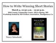 Short Story Workshop March 4